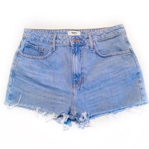 FOREVER 21 Size 28 Light Wash Denim Shorts Fringe